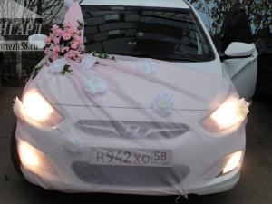 Розовая Фота и белые розы